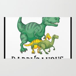 Dad Dinosaur Daddyasaur T-Rex Fathers Day Gift Rug