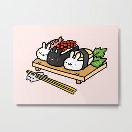 Bunnigiri Sushi Metal Print