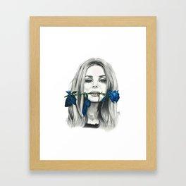 Kiss Me Harder Framed Art Print