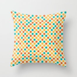 Vintage Dots Throw Pillow