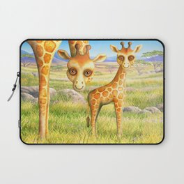 Giraffe and Calf Laptop Sleeve