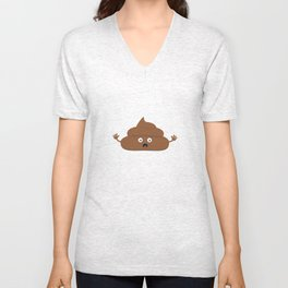Frightened poo Unisex V-Neck