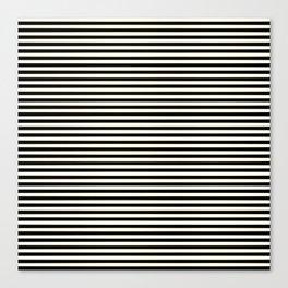 Thin alternating gold black and white art deco stripes Canvas Print