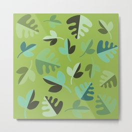 Shades of Green Leaves Metal Print