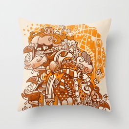 Ginger Monsterous Throw Pillow