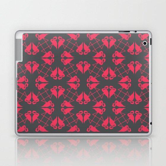 Flamingo Hearts Laptop & iPad Skin