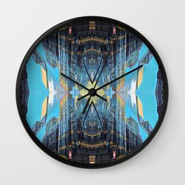 Building Reflections Wall Clock