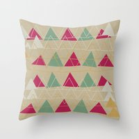 odd future Throw Pillows featuring odd  by spinL