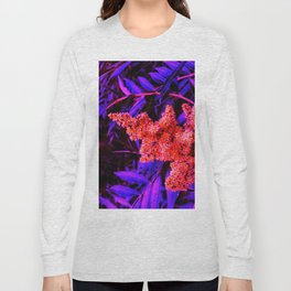 Red and Blue Sideways Sumac Long Sleeve T-shirt