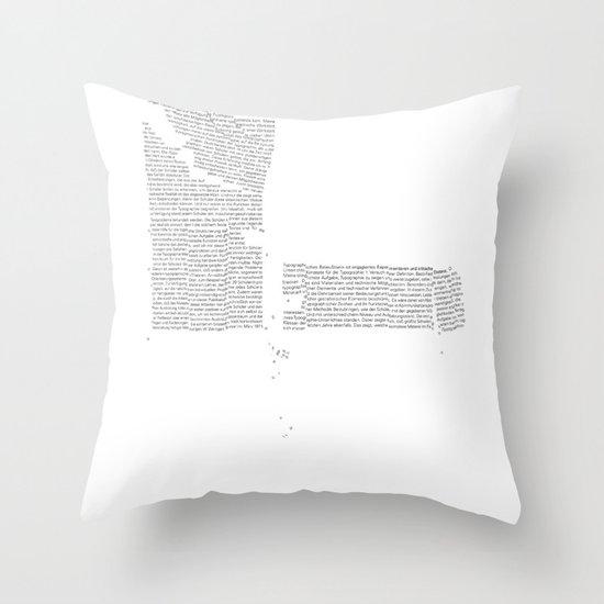 Erosion & Typography 4 Throw Pillow