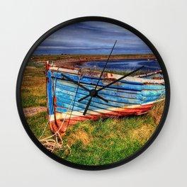 Lindisfarne By The Sea Wall Clock