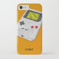 gameboy iPhone & iPod Cases featuring GameBoy by Vloh