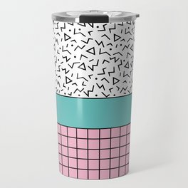 Memphis Pattern 33 / 80s - 90s Retro Travel Mug