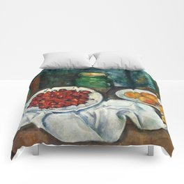 "Paul Cezanne ""Still Life with Cherries and Peaches"" Comforters"