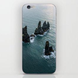 Sea stacks on the Icelandic Coast near Vik - Landscape Photography iPhone Skin