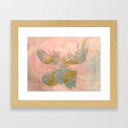 Moose Lovin' Framed Art Print