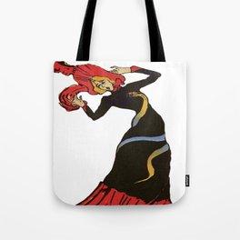 Jane Avril After Henri de Toulouse-Lautrec Tote Bag