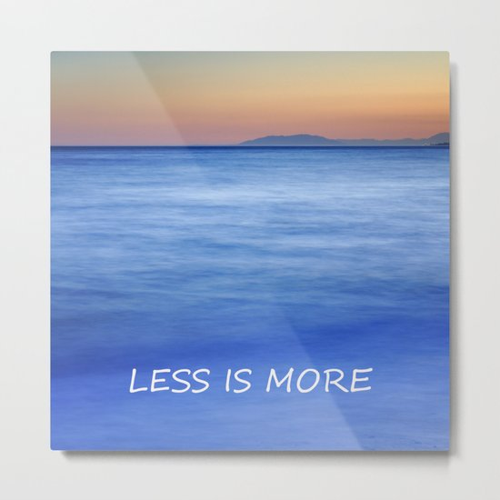 Less is more Metal Print