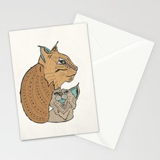 Mama And Baby Lynx Stationery Cards