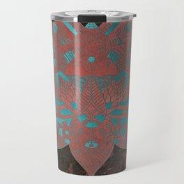 Elegance Mandala Metallic Copper Mint Travel Mug
