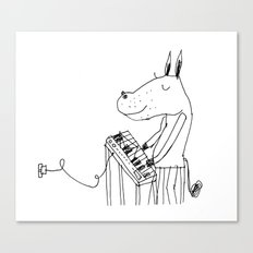 keyboard player Canvas Print