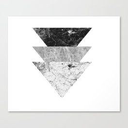 Night marble triangles Canvas Print