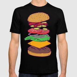 Vegan Burger Anatomy (No Words) T-shirt