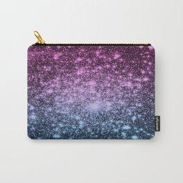 Galaxy Sparkle Stars Dark Mauve Steel Blue Carry-All Pouch