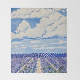 Lavender Fields Forever  Throw Blanket