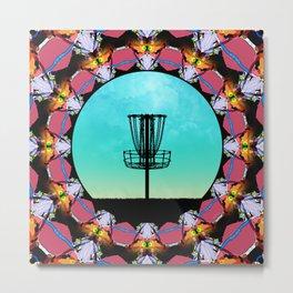 Disc Golf Abstract Basket 6 Metal Print