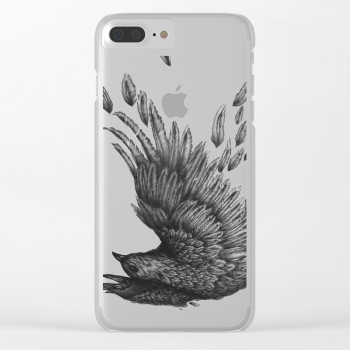 Raven Unravelled Clear iPhone Case