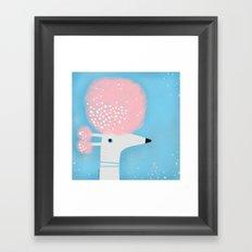 PINK BOUFFANT Framed Art Print