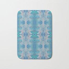 Pattern in Blue, Green & Pink Bath Mat
