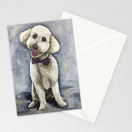 Unique Golden-Doodle Art, Fun Dog Art Stationery Cards