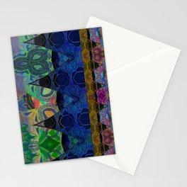 Pixel Thread Woven Embroidery Boho Velvet Print Stationery Cards