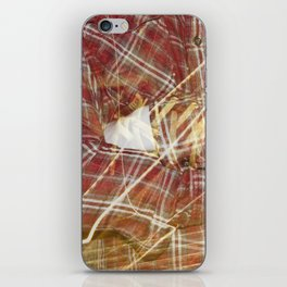 Plaid Hands and Converse Feet iPhone Skin