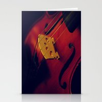 violin Stationery Cards featuring Violin by KimberosePhotography