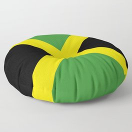 Flag of Jamaica-Jamaican,Bob Marley,Reggae,rastafari,weed,cannabis,ganja,america,south america,ragga Floor Pillow