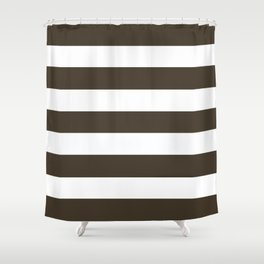 Jacko bean - solid color - white stripes pattern Shower Curtain