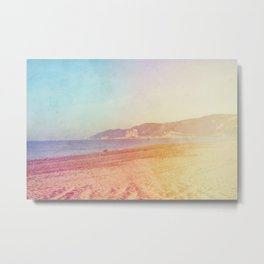 Color gradient sunny beach pastel holidays vintage happy Metal Print