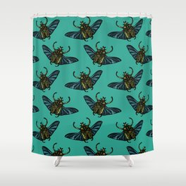 Goliath Beetle Shower Curtain