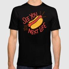 Eternal Hot Dog Mens Fitted Tee Black MEDIUM
