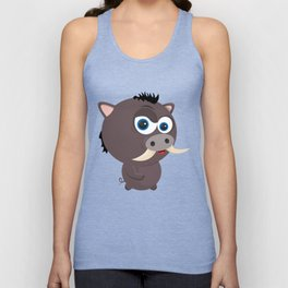 Cartoon Boar Unisex Tank Top