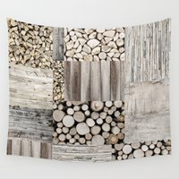 wood Wall Tapestries featuring Wood by LebensART