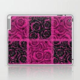 Raspberry patchwork Roses. Laptop & iPad Skin