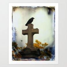Gothic Glow Of Fall Art Print