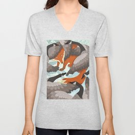 Smirre Fox Unisex V-Neck