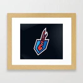 The Kraken Logo Framed Art Print