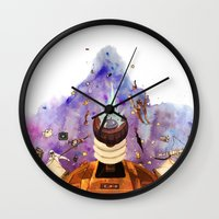 doctor who Wall Clocks featuring Doctor Who by Anthony Wallace