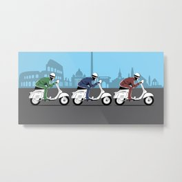 The Vintage Italian Scooter Trio Metal Print